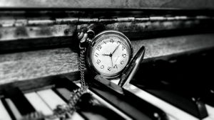 Clock on piano