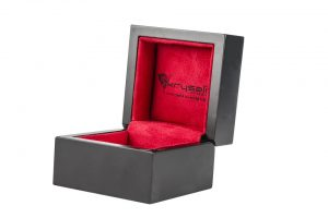 A box padded with sponge used to pack family heirlooms