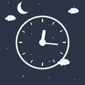 a night time clock