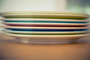 Take care of your plates, even if you have to pack your kitchen in one day