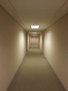 A cleared hallway