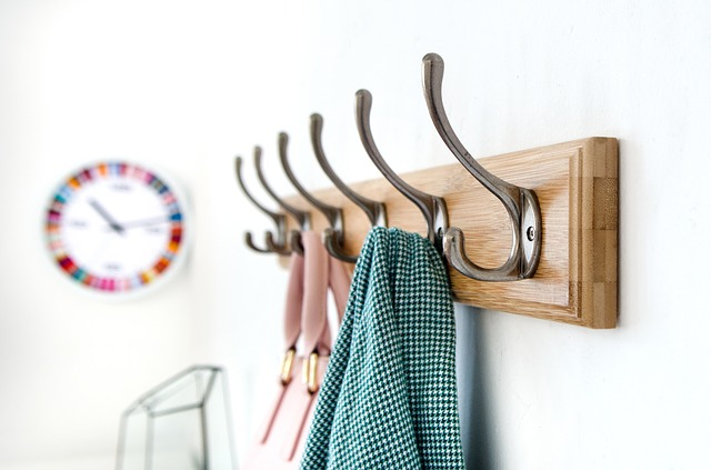 Wall hooks are among the items people usually forget during a move.