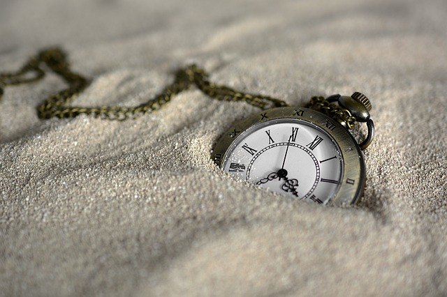 A watch in the sand.