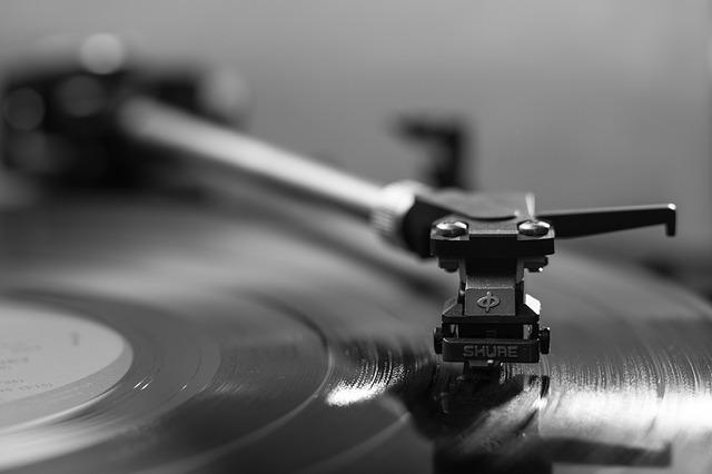 A vinyl player.