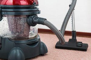 Vacuum used to clean a room