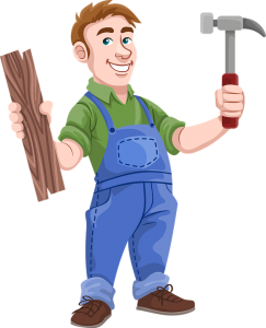Image of a cartoon carpenter