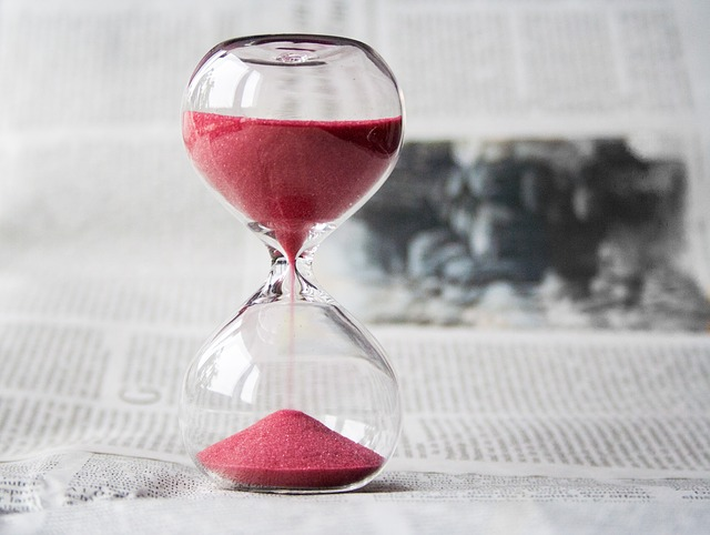 You won't use an hourglass to measure the time for moving last-minute but you will need to think about the time.