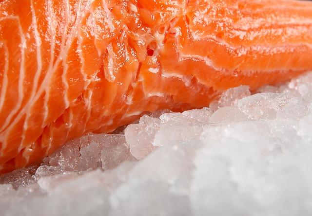 Sushi on ice.