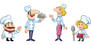 cartoon chefs
