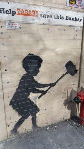 A graffiti mural.