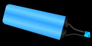 Blue marker.