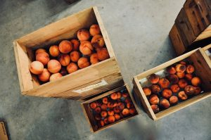 Do not place fruits like peaches in storage container pods.