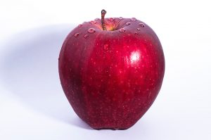 A big red apple