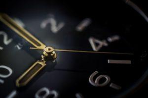 A black clock.