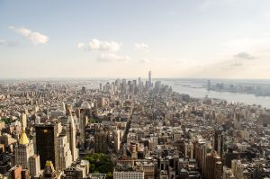 An aerial photo of NYC during daytime