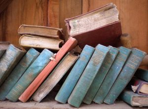 Old books - prevent damages and store your book collection in plastic bins.