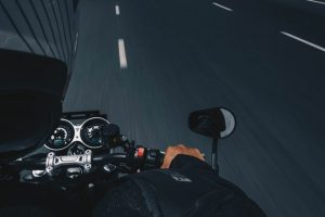 A man riding a motorcycle