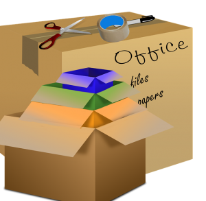 An illustration of moving boxes and supplies