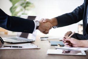 Meeting, handshake.
