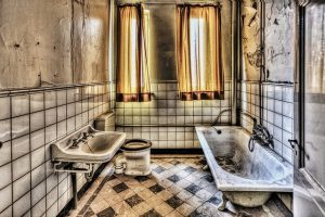 Old bathroom - renovating it will add value to your home