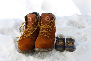 Boots prepared for moving to a colder climate