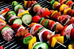 Vegetables on a BBQ. Making BBQ is one of the ideas for a housewarming party in NYC