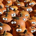 Caricature pumpkins from one of the best pumpkin patches in NYC
