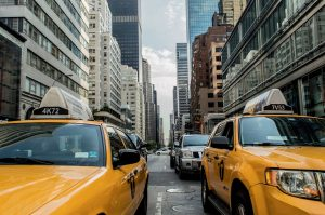 Yellow cabs of New York