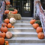 Stairs with pumpkins - Halloween decoration of your NYC home