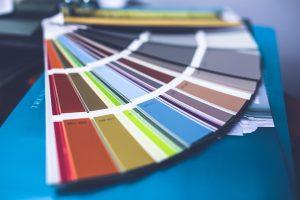 pallet of colors
