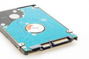 blue computer hard drive