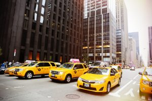 The real deal - yellow cabs in New York