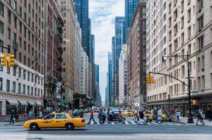 Cab in Manhattan