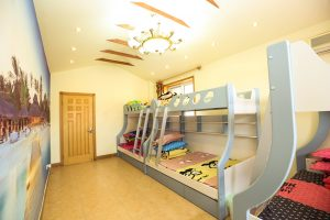 Bunk bed can be transformed into a loft bed creating extra room in your new apartment