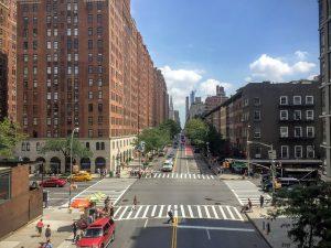 nearly empty street in NYC