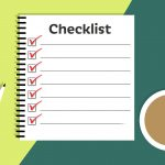 A checklist, pen, and coffee