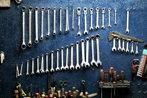 A set of tools you will need for your garage transformation