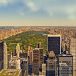 The panorama of Central Park - it is one of the best places in NYC for nature lovers