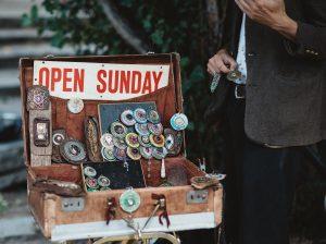 an open briefcase