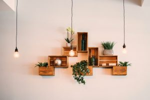 Lighting and shelves as decorating hacks for renters in NYC