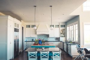 Staging your NYC home by having the white kitchen