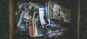 packing photos from your attic before moving