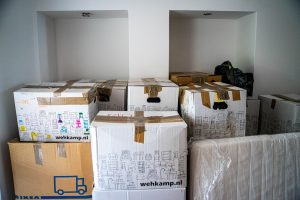Old moving boxes