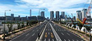 highway toward a big city