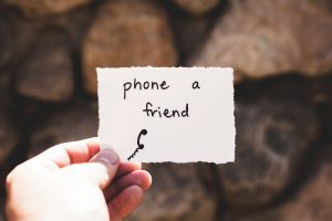 "A sign ""phone a friend"""