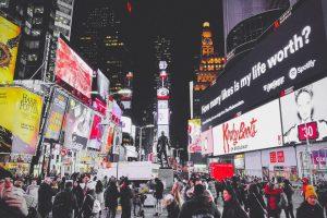 NYC street at night