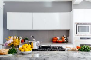 A modern and tidy kitchen