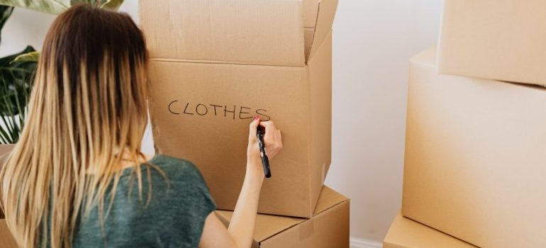 Cardboard boxes are part of packing services NYC