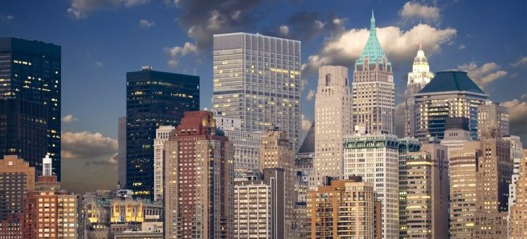 Manhattan business area