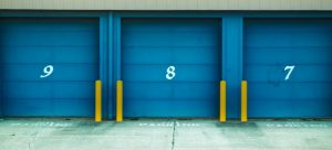 Door to storage units